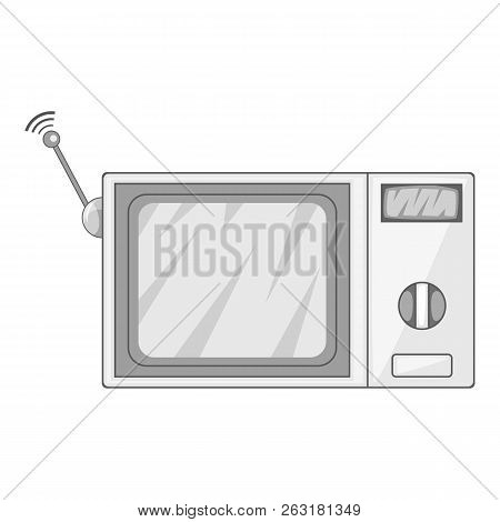 Videophone Icon In Monochrome Style Isolated On White Background Illustration