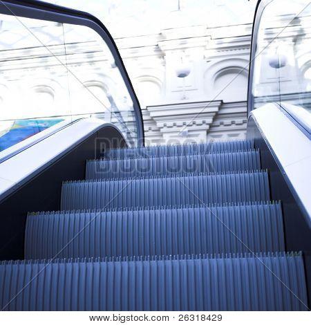 Rolltreppe im Einkaufszentrum, Moskau, Gum, Russland