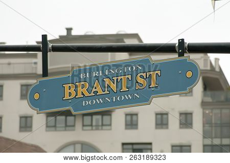 Brant Street Sign - Burlington - Canada