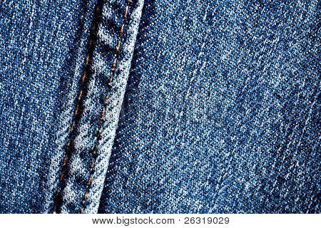 Antecedentes del dril de algodón, blue jeans textura