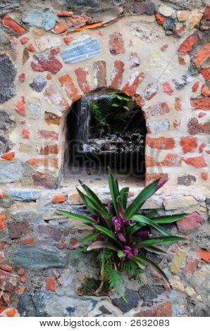 Aging Wall Detail At Annaberg Plantation