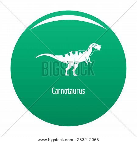 Carnotaurus Icon. Simple Illustration Of Carnotaurus Icon For Any Design Green