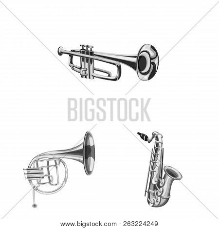 Vector Design Of Music And Tune Icon. Set Of Music And Tool Stock Vector Illustration.