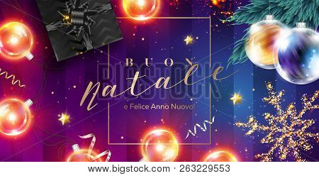 Merry Christmas In Italian.Buon Natale E Felice Vector Photo Free Trial Bigstock