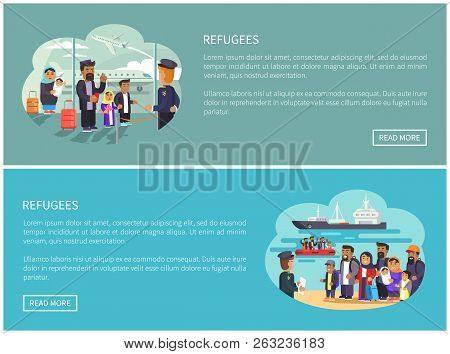 Refugees Collection Web Pages Having Information About People Immigrating To Another Country, Muslim
