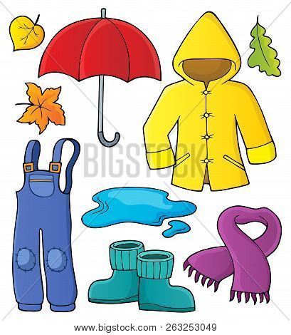 Autumn Objects Theme Set 1 - Eps10 Vector Picture Illustration.