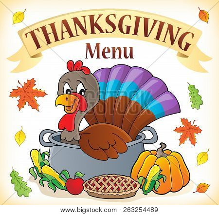 Thanksgiving Menu Topic Image 1 - Eps10 Vector Picture Illustration.