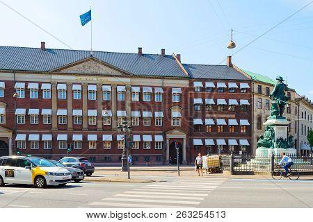Copenhagen, Denmark - July 16, 2018. Beautiful Architecture Of Copenhagen. Architecture City Landsca
