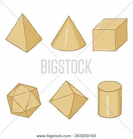 Vector Set Of Cartoon Paper Geometry Shapes