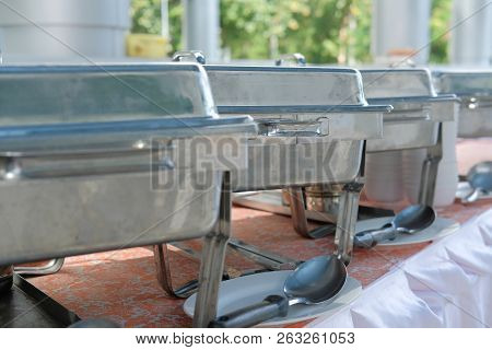 Food Buffet Catering In Restaurant For Wedding Party Banquet Event. Eating, Dining Concept
