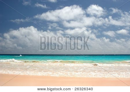 Pink sandy beaches of Bermuda