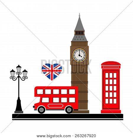 London City. Vector Illustration With London Symbols. Eps 10