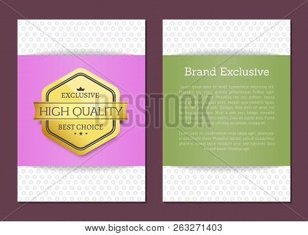 Brand Exclusive High Quality Award Premium Advertisement Seal Golden Label With Text Samples. Warran