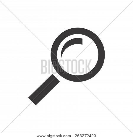 Magnifying Glass Icon, Vector Magnifier Or Loupe Icon,search Icon,find Icon