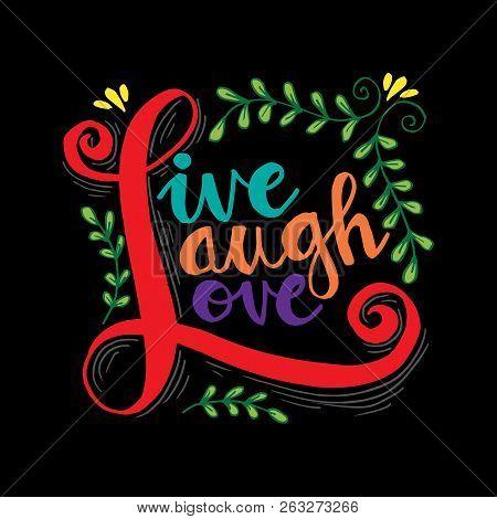 Live Laugh Love Hand Vector Photo Free Trial Bigstock