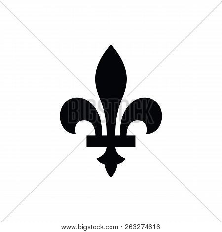 Fleur-de-lis Or Lily Flower Icon. New Orlean Symbol Of Support And Recovery. Royal French Heraldic S