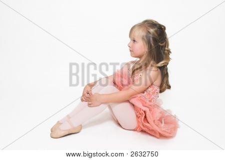 Tiny Ballerina Sitting