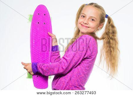 Plastic Skateboards For Everyday Skater. Child Hold Penny Board. Penny Board Of Her Dream. Best Gift