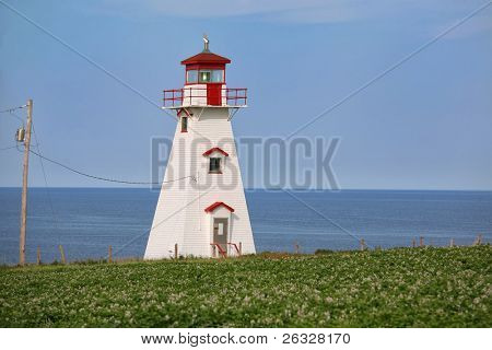 Cape Tryon Lighthouse, on the north shore of Prince Edward Island, Canada.
