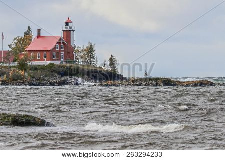 Eagle Harbor Lighthouse, Upper Peninsula Of Michigan