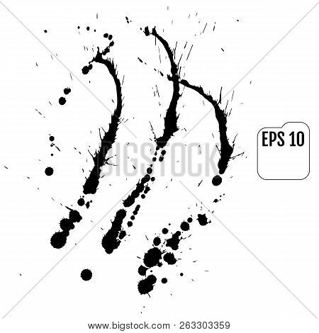 Abstract Vector Background Set For Design Use. Paint Splatter Ba