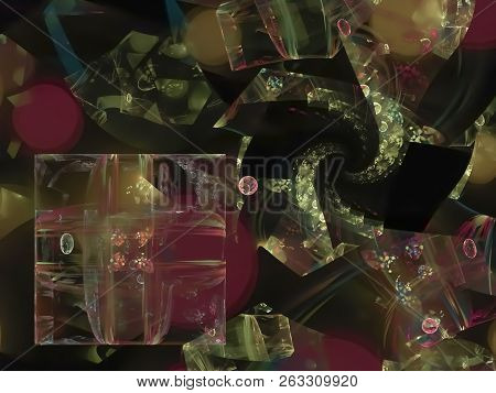 Abstract Digital Fractal Design Decorative, Contrast, Style, Poster