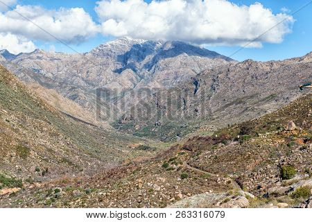 The Ceres Mountain Fynbos Reserve. The Mitchells Road And Railroad Passes Near Ceres In The Western