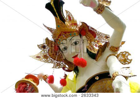 Statue For The Balinese New Year Procession