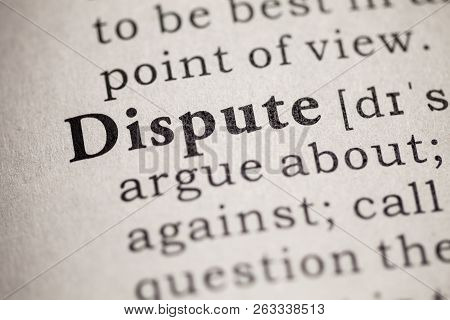 Fake Dictionary, Definition Of The Word Dispute.