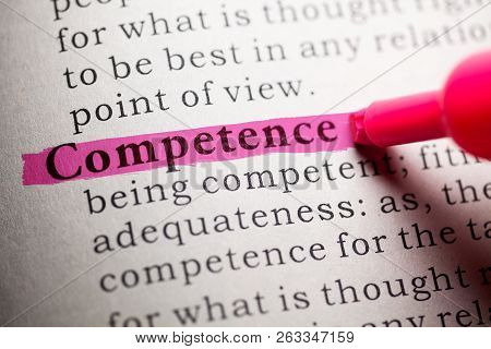 Fake Dictionary, Definition Of The Word Competence.