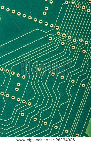 Electronic circut board close up