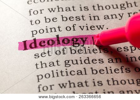 Fake Dictionary, Dictionary definition of the word ideology poster