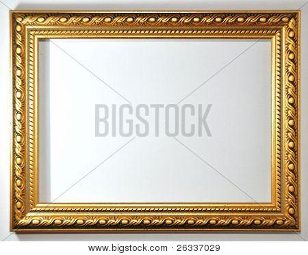 empty frame on white background
