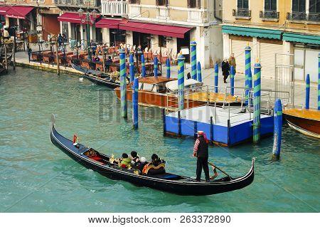 Traditional Gondola - Venice City - Italy