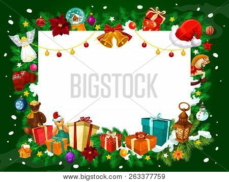 Christmas Card Frame.Frame Christmas Vector Photo Free Trial Bigstock