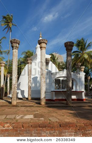 Ambasthale dagoba - buddhist stupa. Mihintale, Sri Lanka poster