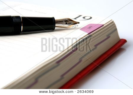 Fountain Pen And Diary