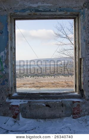 window from winter to spring