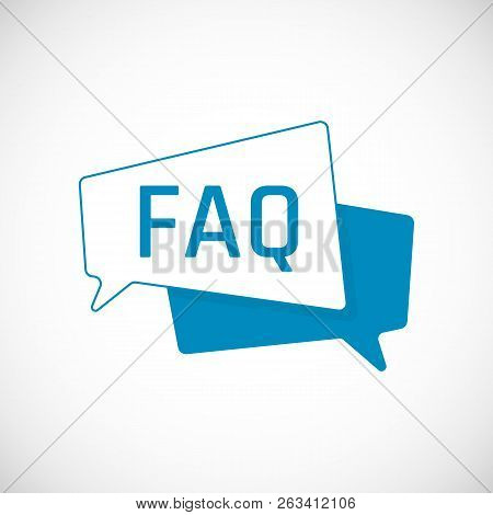 Faq Icon. Frequently Asked Question As Speech Bubble. Element Of Web Icon For Mobile Concept And Web