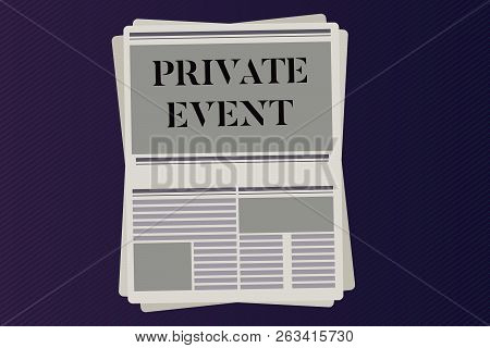 Word Writing Text Private Event. Business Concept For Exclusive Reservations Rsvp Invitational Seate