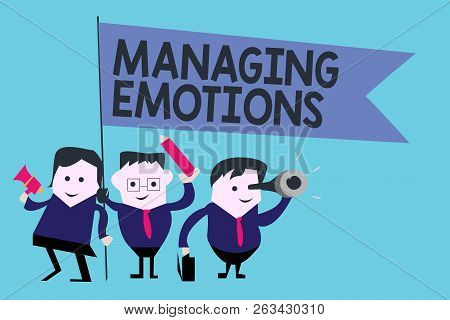 Conceptual Hand Writing Showing Managing Emotions. Business Photo Text Controlling Feelings In Onese