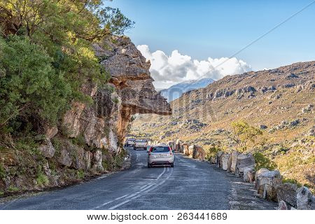 Bains Kloof, South Africa, August 8, 2018: Dacres Pulpit In The Historic Bains Kloof Pass In The Wes