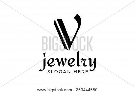v logo design vector photo free trial bigstock