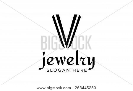 V Logo Vector. Clean And Simple V Logo Template