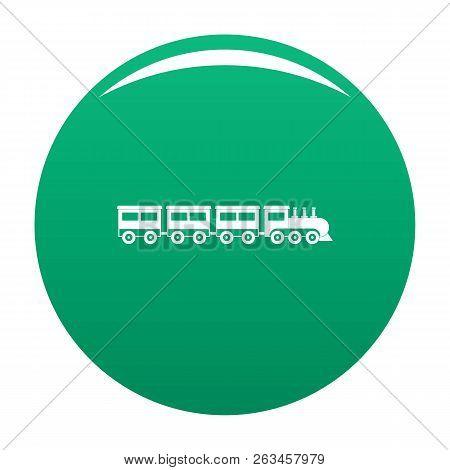 Compartment Train Icon. Simple Illustration Of Compartment Train Vector Icon For Any Design Green
