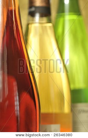 Still-life with wine bottles
