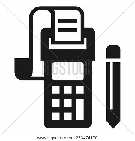 Payment Terminal Icon. Simple Illustration Of Payment Terminal Vector Icon For Web Design Isolated O
