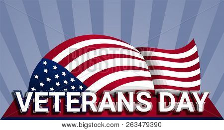 Military Us Veterans Day Concept Background. Realistic Illustration Of Military Us Veterans Day Vect