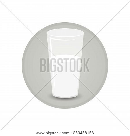 Glass Of Soya Milk Fresh And Healthy Vegeterian Diet  For Print And Web Decoration Icon , Cartoon Il