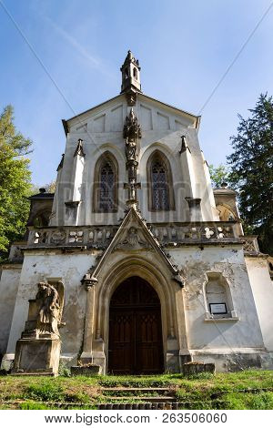 Saint Maximilian Chapel On Cemetery In Saint John Under The Cliff, Svaty Jan Pod Skalou, Czech Repub